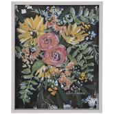 Yellow Daisies & Pink Roses Wood Wall Decor