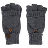 Gray C.C Fingerless Gloves