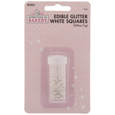 White Square Glitter Sprinkles