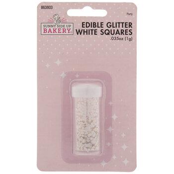 White Square Glitter Sprinkles