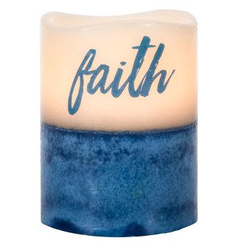 Faith Sea Salt & Driftwood LED Pillar Candle