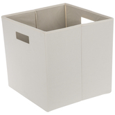 Beige Square Collapsible Storage Container