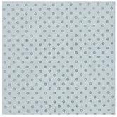 "Silver & Blue Glitter Polka Dot Scrapbook Paper - 12"" x 12"""