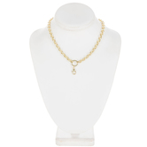 """Lobster Clasp Focal Chain Necklace - 18"""""""