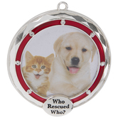 Who Rescued Who Frame Ornament