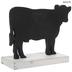 Moo Cow Silhouette Wood Decor