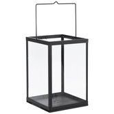 Black Rectangle Metal Lantern