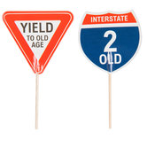 Old Age Road Sign Cupcake Toppers