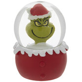 Grinch Santa Snow Globe