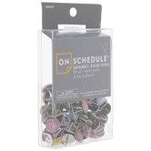 Assorted Round Enamel Push Pins