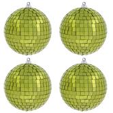 Lime Green Disco Ball Ornaments