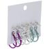 Iridescent Metal Hoop & Post Earrings