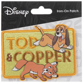 Tod & Copper Iron-On Applique