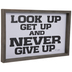 Never Give Up Wood Wall Decor
