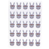 Spring Bunny Puffy Stickers