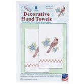 Cardinal Decorative Hand Towels Needle Art Kit