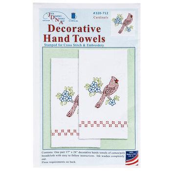 Cardinal Decorative Hand Towels Needle Art Kit
