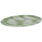 Green Palm Leaf Platter
