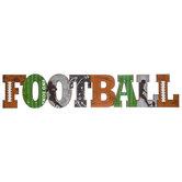 Football Embossed Metal Sign
