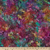 Jewel Tone Leaf Cotton Calico Fabric
