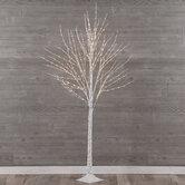 White Birch Pre-Lit Christmas Tree - 6'