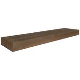 Walnut Floating Wood Wall Shelf - Large