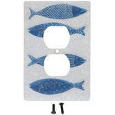 Blue Fish Outlet Cover