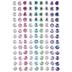 Multi-Color Round Rhinestone Stickers