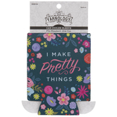 I Make Pretty Things Floral Can Cooler
