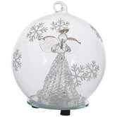 Light Up Angel Ball Ornament
