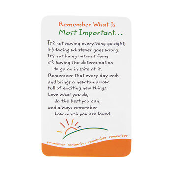 Remember What Is Most Important Wallet Card