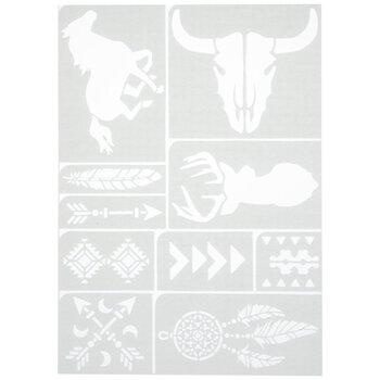 Southwest Motif Adhesive Stencils