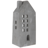 Gray Cement House Candle Holder