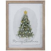Merry Christmas Tree Framed Wall Art