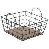 Black Square Wire Metal Basket
