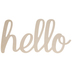Hello Script Wood Decor