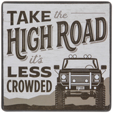 Take The High Road Wood Wall Decor