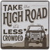 Take The High Road Wood Wall Decor
