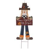 Pumpkin Spice Season Scarecrow Garden Stake