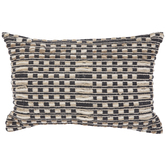 Gray & Cream Squares Handloom Pillow