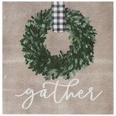 Gather Wreath Wood Decor