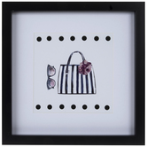 Purse & Sunglasses Framed Wall Decor