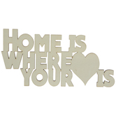 Home Is Where Your Heart Is Wood Cutout