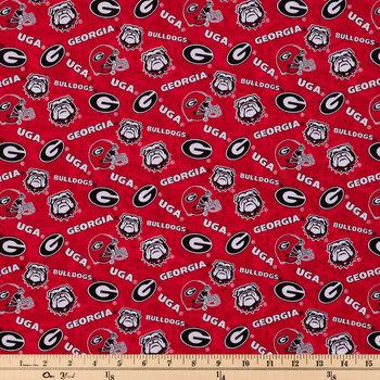 Georgia Allover Collegiate Fabric