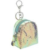 Iridescent Purple Backpack Keychain