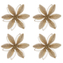 Gold Glitter & Sheer Floral Clips