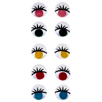 Paste-On Printed Wiggle Eyes - 10mm