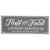 Fluff & Fold Laundry Service Metal Wall Decor