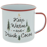 Keep Warm & Drink Cocoa Metal Mug