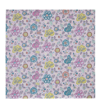 "Mod Pink Floral Scrapbook Paper - 12"" x 12"""